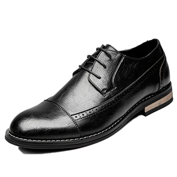 Brogues For Men Non-slip Leather Office Pointed Toe Carved Men s Shoes  Business Casual Leather b33367e2b82b