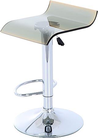 Homcom Sgabello da bar regolabile, seduta in acrilico