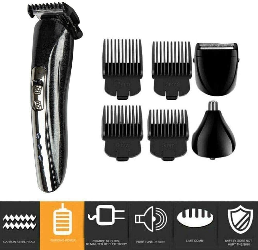 xluckx Barbero Electrico Máquina Cortapelo Recortador De Barba Máquina De Cortar Pelo para Hombres 9pcs Sustainable Benefit
