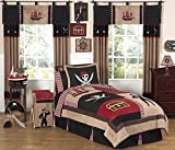 Sweet Jojo Designs 3-Piece Treasure Cove Pirate Children's Full / Queen Boys Bedding Set