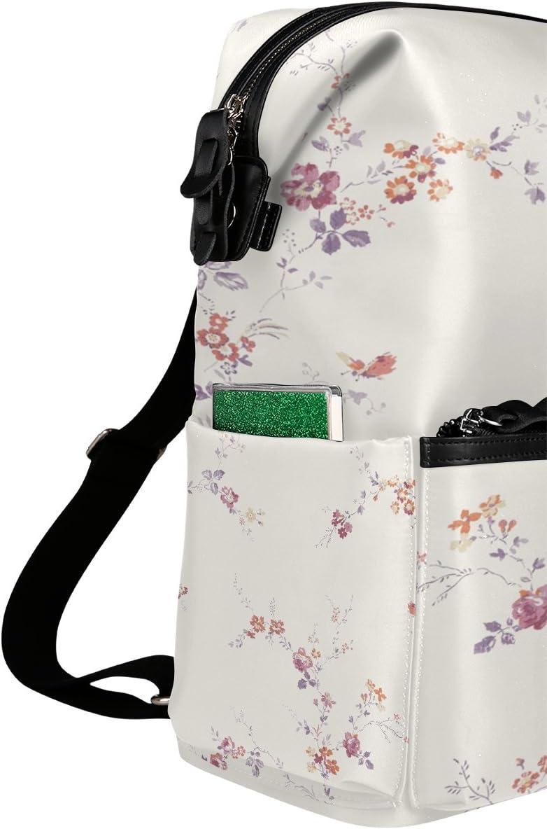Laptop Backpack Lightweight Waterproof Travel Backpack Double Zipper Design with Fresh And Elegant Floral School Bag Laptop Bookbag Daypack for Women Kids