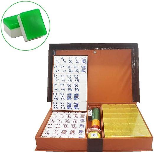Boutique Conjunto Mahjong Póker, Producción De Acrílico Seleccionada Póker Mah Jongg Juego De Mesa, Juegos De Mah Jong, Majong Set Majiang (3.7Cm*2.8 Cm*2.1 Cm),Green: Amazon.es: Jardín