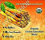 Cheap Organic Real Ceylon (Sri Lanka) Cinnamon Sticks, 5 Inch,(9 Oz), Premium Grade, Freshly Packed – (255g)