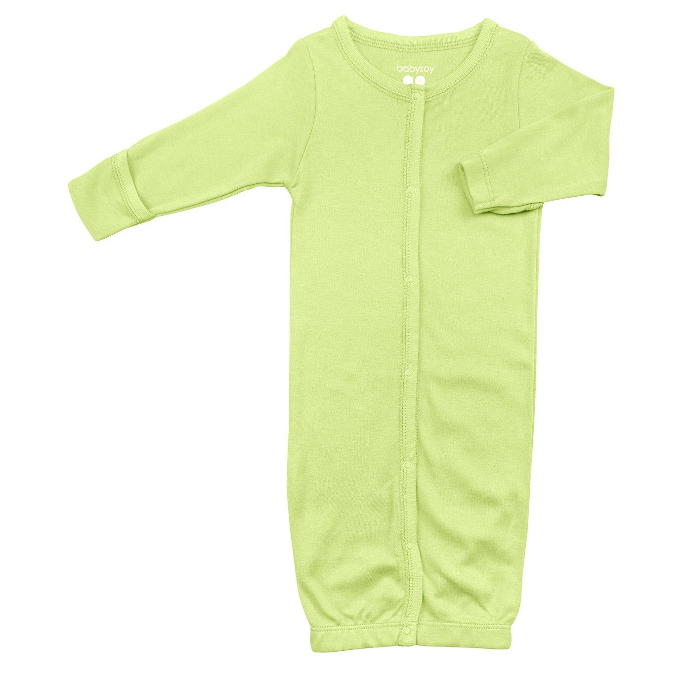 Babysoy Organic Modern Solid Bundler/Gown