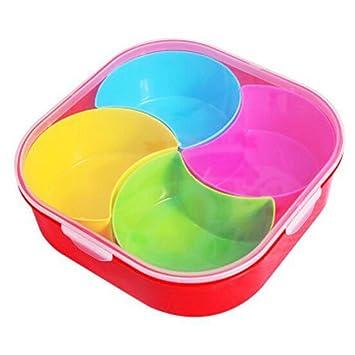 Caja de plástico de la galleta caja de fruta de la caja de almacenamiento del caramelo del caramelo para el hogar -A19: Amazon.es: Hogar