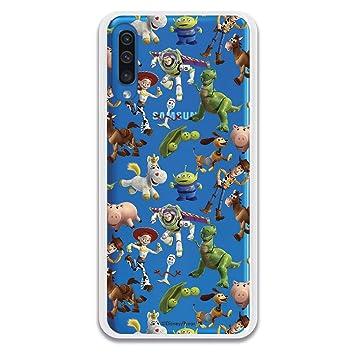Funda para Samsung Galaxy A50 de Toy Story. Carcasa con Las Siluetas de los Personajes de Toy Story, una Funda con Licencia Oficial de Disney para ...