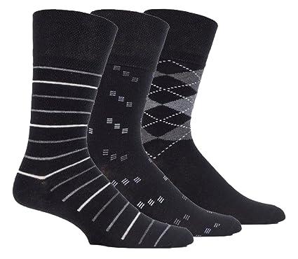 12 Pairs Mens Gentle Grip Honeycomb Top Non Elastic Socks Fashion color diabetic