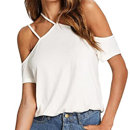 Camisetas Mujer Verano, Moda LILICAT® 2018 Sexy Camiseta sin tirantes con hombros descubiertos Camiseta