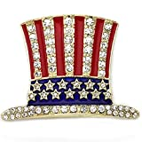 Soulbreezecollection SoulBreeze US Ballot American USA Flag Star Brooch Pin 4th of July Veterans' Day Gift Charm (Hat Gld)