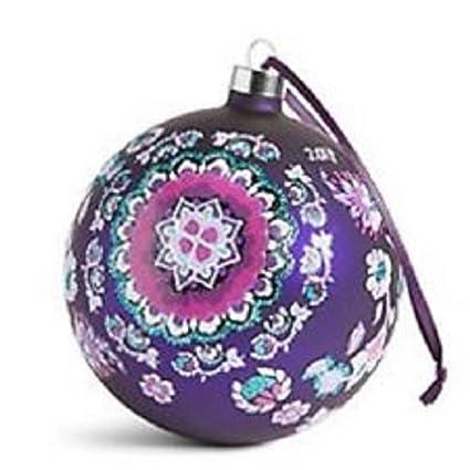 Vera Bradley 2017 Glass Ball Ornament in Lilac Medallion - Amazon.com: Vera Bradley 2017 Glass Ball Ornament In Lilac Medallion
