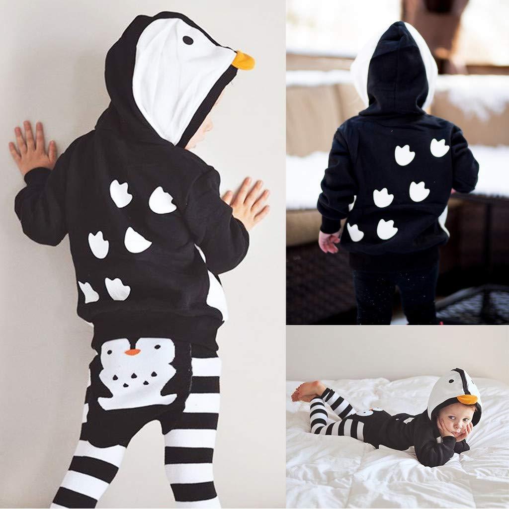 Unisex Baby Sweatshirts,Unisex Baby Autumn Winter Cartoon Hooded Sweatshirt Infant Boys Girls Hooded Coats Yamally