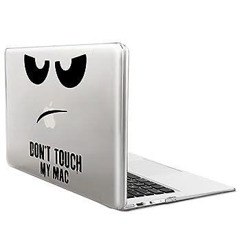kwmobile Funda para Apple MacBook Air 13(2011-mediados de 2018) Case Protector Duro para Laptop - Carcasa Delgada y Transparente diseño Dont Touch my ...