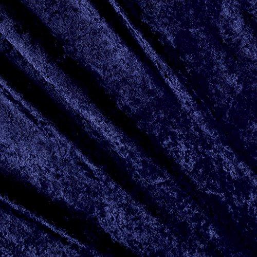 Stretch Panne Velvet Velour Dark Navy Fabric By The Yard (Stretch Velour Fabric)