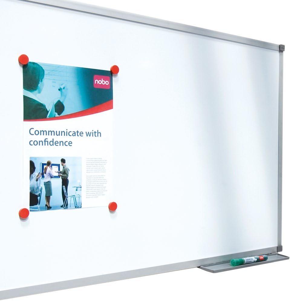 Kit di Montaggio Incluso Nobo Basic Lavagna Bianca in Acciaio Laccato 1200 X 900 mm Bianco Cornice in Alluminio 1905211