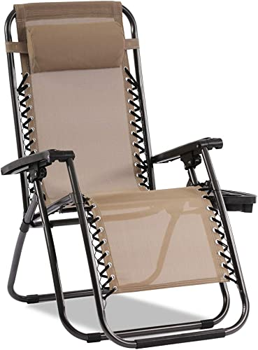 Zero Gravity Chair Patio Chair Lounge Chair Chaise Recliner Outdoor Folding Adjustable Heavy Duty Zero Gravity Chair