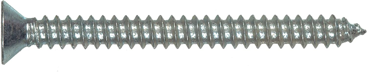 100-Pack The Hillman Group 80169 6-Inch x 2-Inch Flat Head Phillips Sheet Metal Screw