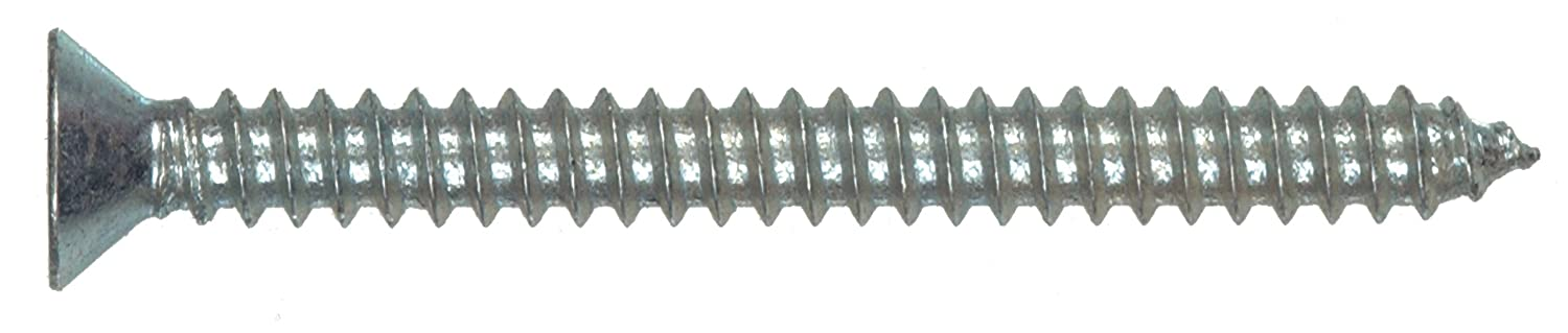 The Hillman Group 80177 8-Inch x 3//8-Inch Flat Head Phillips Sheet Metal Screw 100-Pack