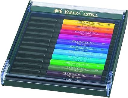 Faber-Castell 267421 - Pack de 12 rotuladores Pitt punta de pincel ...