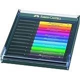 Faber-Castell PITT Artist Brush Pen Set of 12 Intensive Colours In a Robust Workstation