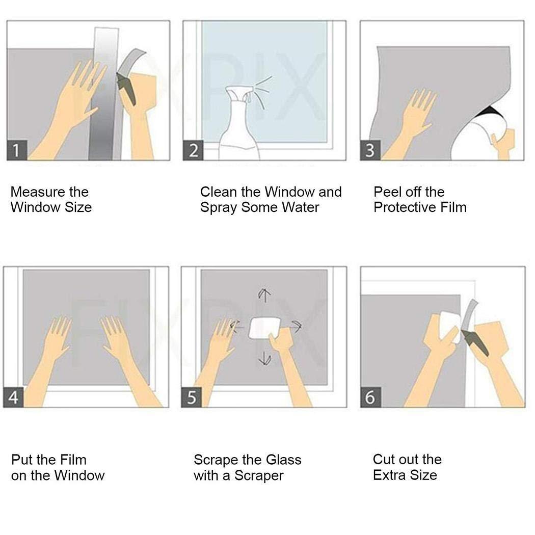 piokikio UV Reflective Home Window Films Insulation Window Mirror Stickers