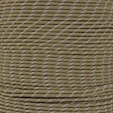 Reflective Type III 550 Paracord - Coyote Brown - 10 Ft Hank - 7 Strand Core - 100% Nylon, Parachute Cord, Commercial Paracord, Survival Cord