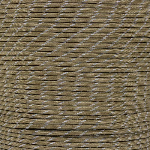 Reflective Type III 550 Paracord - Coyote Brown - 10 Ft Hank - 7 Strand Core - 100% Nylon, Parachute Cord, Commercial Paracord, Survival Cord by PARACORD PLANET (Image #1)
