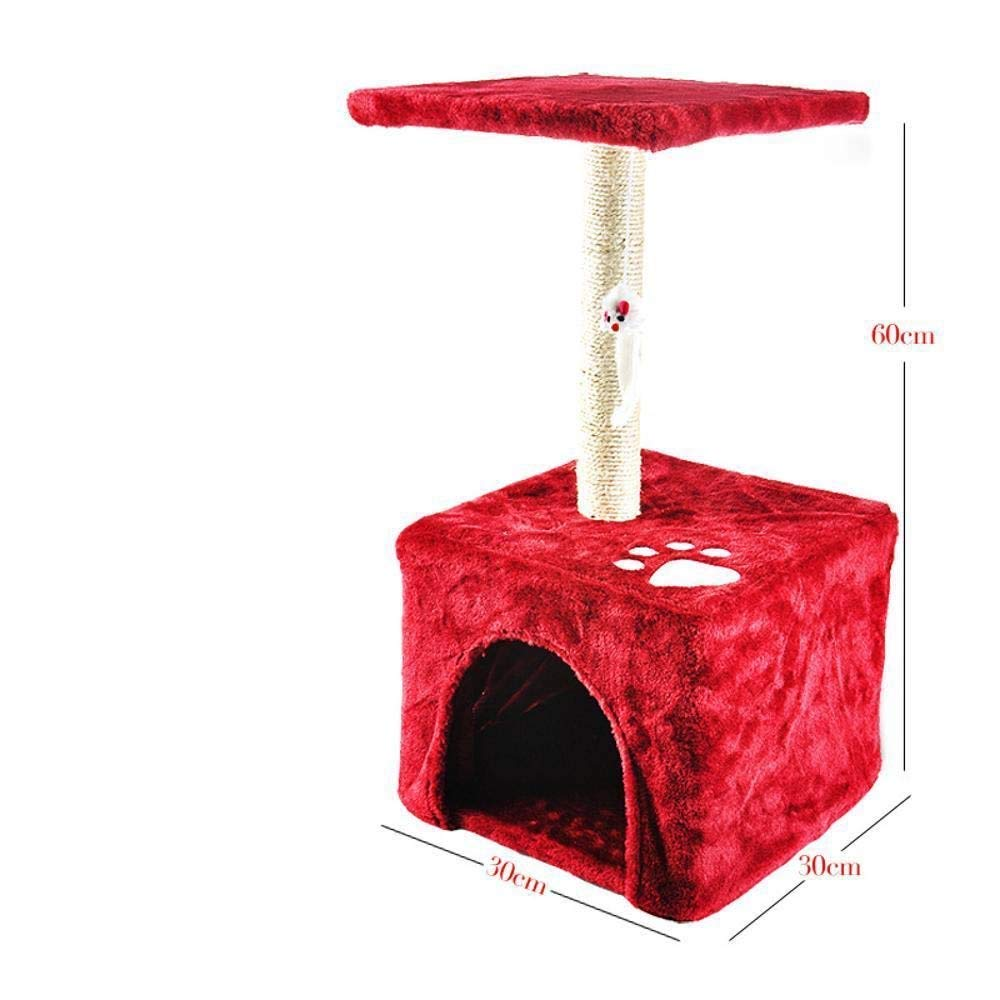 TOUYOUIOPNG Deluxe Multi Level Cat Tree Creative Play Towers Trees for Cats Cat climbing frame Double cat jumping cat tree cat grab column for sleeping game 30cm 30cm  60cm (color   bluee)