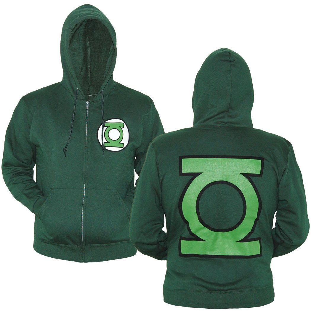 Green Lantern Symbol Zip-Up Hoodie