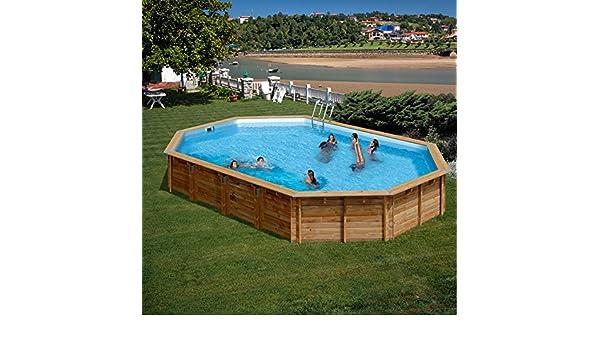 Piscina Madera Gre Sevilla TerraPools 872x472x146 cm.: Amazon.es ...