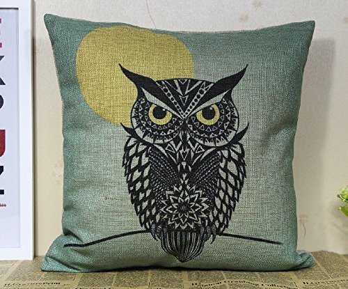 CoolDream Cotton Linen Square Decorative Throw Pillow Case C