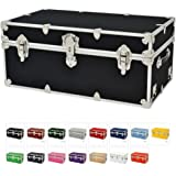 Camp Trunks with Wheels and Tray - Rhino Sticker Trunk - Large (11 COLORS)