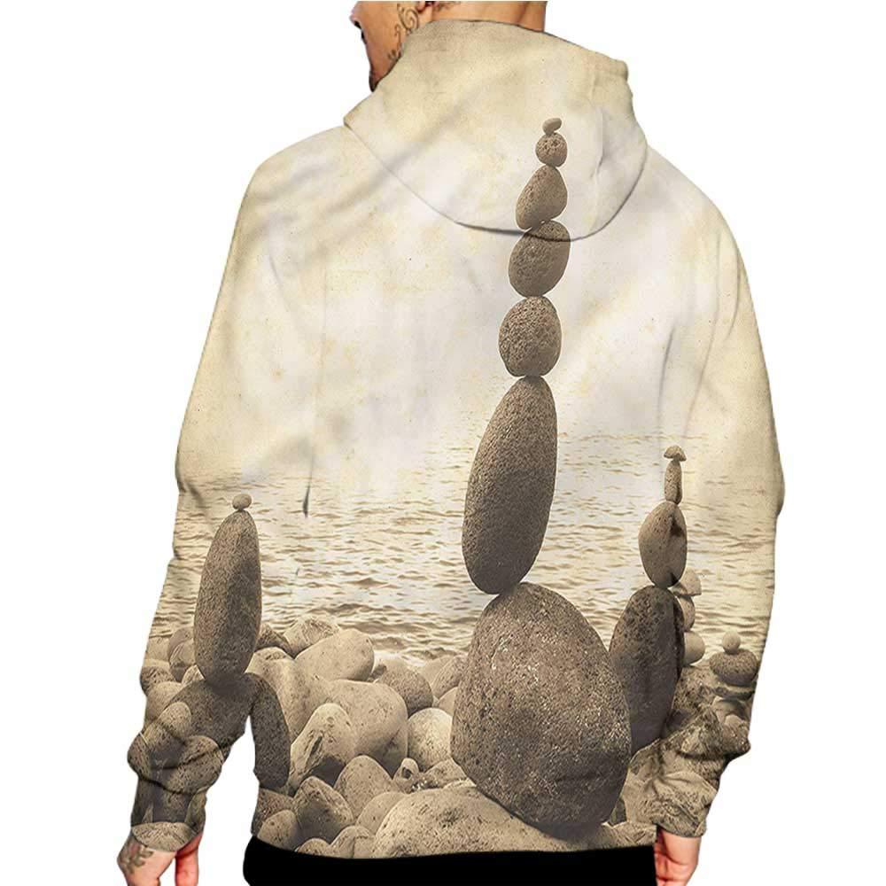 Hoodies Sweatshirt Pockets Ocean,Beach with Waves Stormy Sky,Zip up Sweatshirts for Women