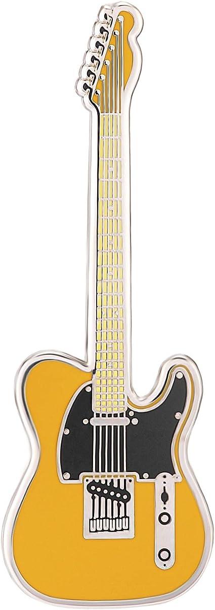 Geepins Esmalte Pin en forma de Guitarra   Precioso Broche Fender Tele   52 mm  