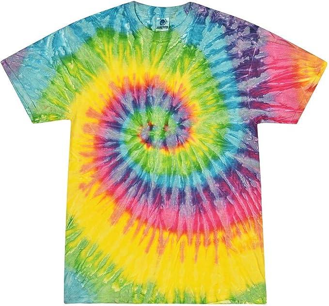 Colortone Childrens Unisex Tie Dye Short Sleeve Cotton T-Shirt RW2624