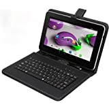 """Tagital T9X 9"""" Quad Core Android 4.4 KitKat Tablet PC, 8GB Multimedia, Bluetooth, Dual Camera, Play Store Pre-installed, 3D Game Supported, 2016 Newest Model Bundled with Keyboard"""