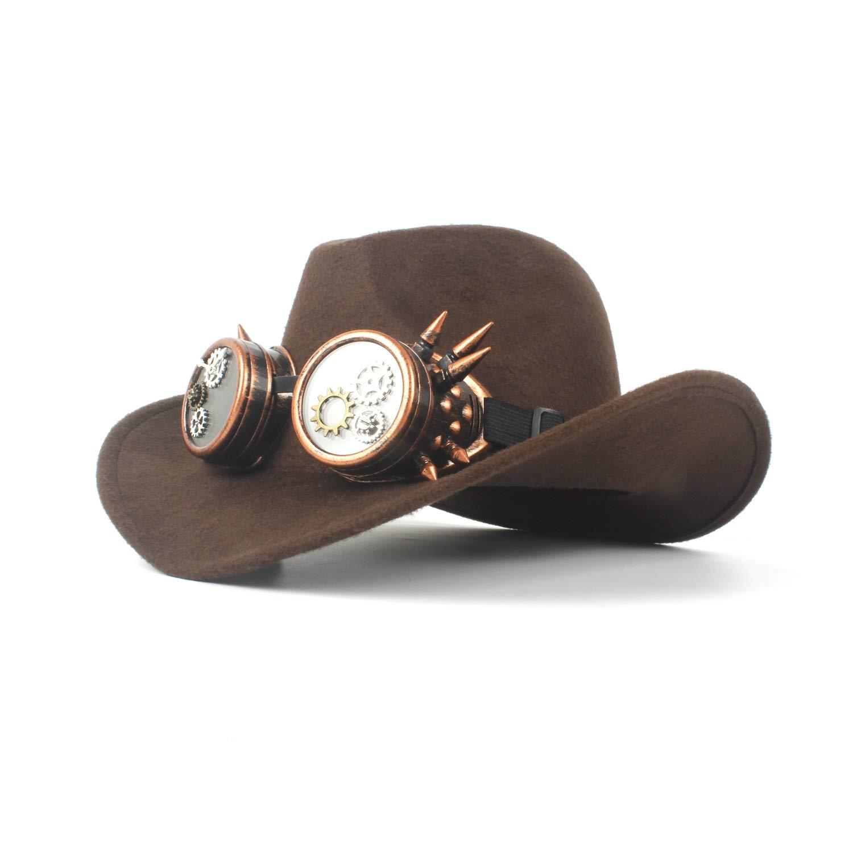 HBR Sombrero de Vaquero de Fieltro de Lana Unisex de Moda Color ...