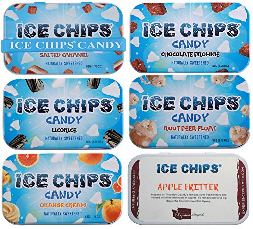 ICE CHIPS Candy 6 Pack Assortment (Yummy Pack)