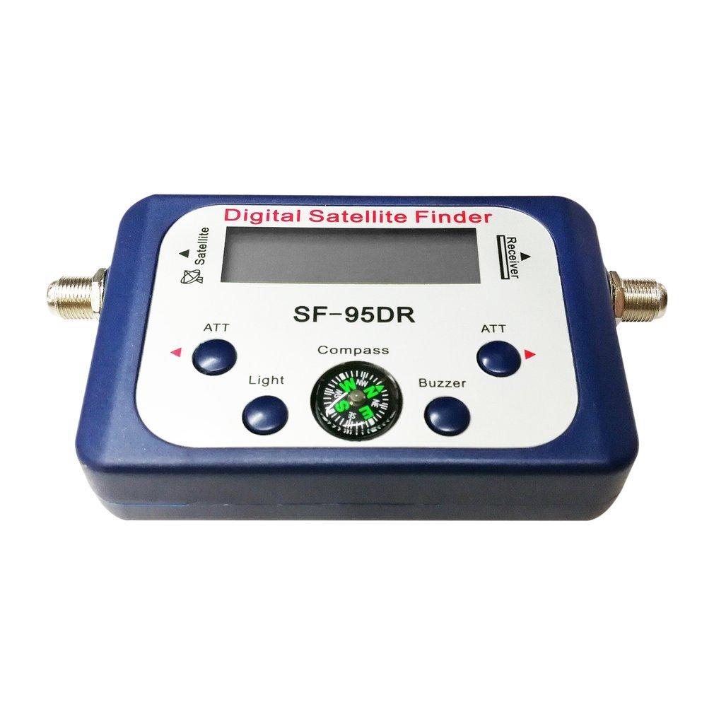 Bussola per decoder satellitare digitale SF-95DR Finder per segnali TV Satellite Sat Decoder (Colore: blu) FairytaleMM