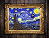 doctor who painting - Tardis Doctor Who Van Gogh style on canvas