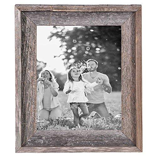 BarnwoodUSA Rustic 11x14 Inch Signature Photo Frame - 100% Reclaimed Wood, Weathered Gray by BarnwoodUSA (Image #2)