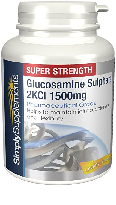 2 opinioni per Glucosamina Solfato Extra Forte 1500mg 60 Compresse Aiuta il corretto