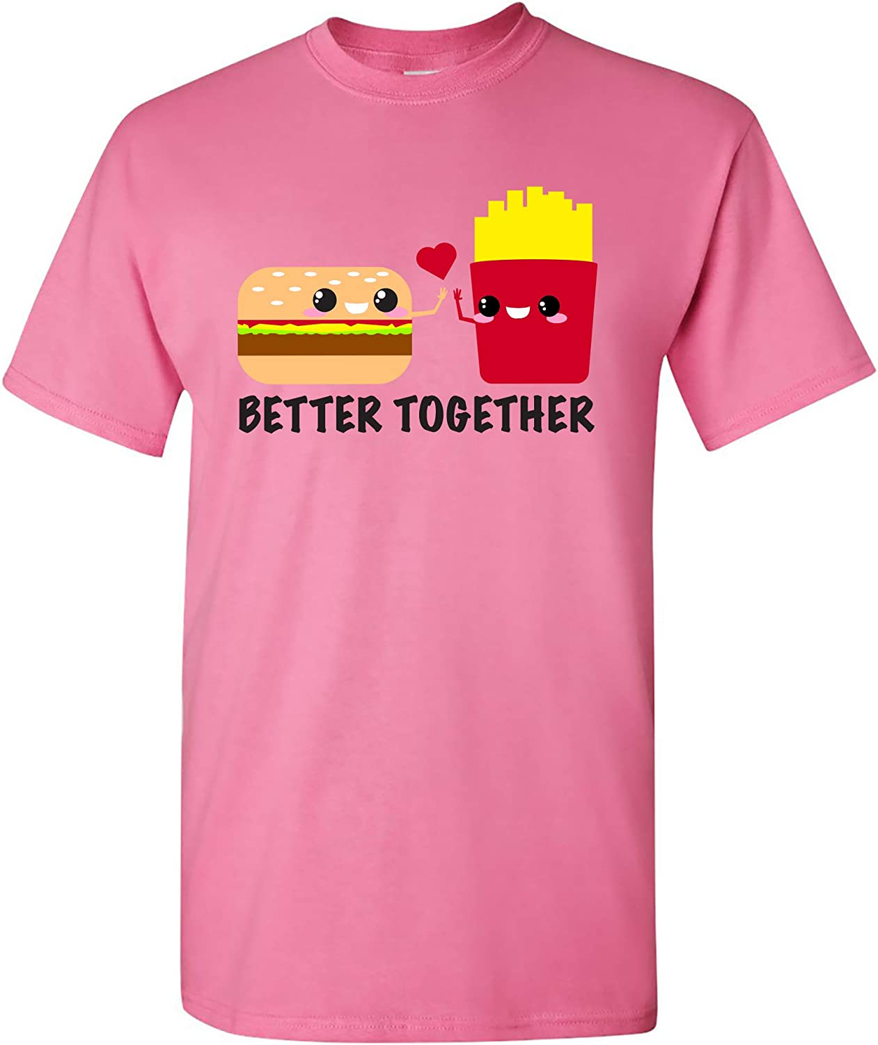UGP Campus Apparel Better Together - Cheeseburger French Fries Fast Food Cute Cartoon T Shirt