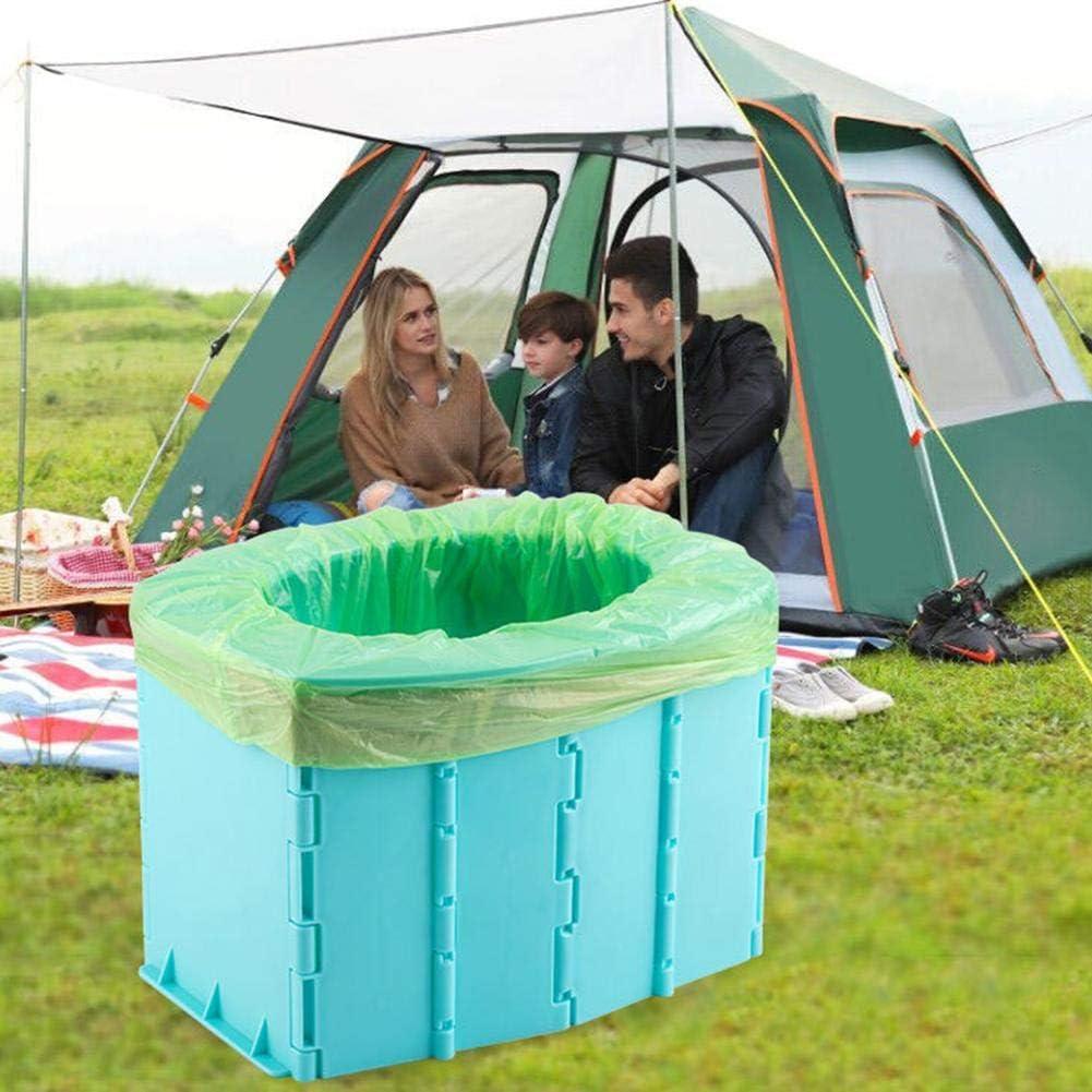 Asiento De Cubo De Inodoro De Camping Port/átil Plegable Festival De Viaje Al Aire Libre Nuevo