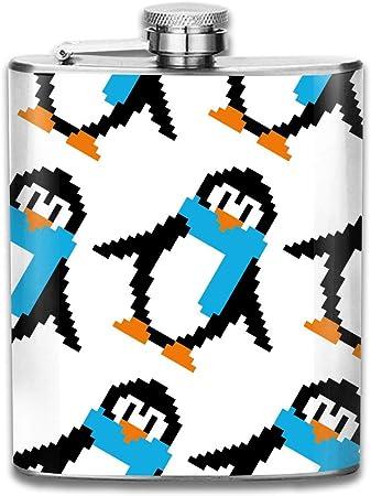 Mignon Pixel Art Penguins Modèle Premium 304 Hanche En Acier
