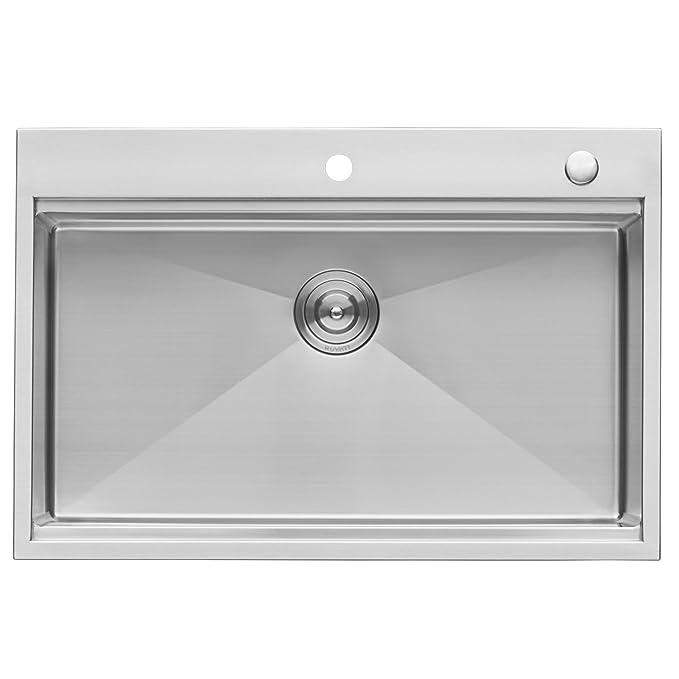 Amazon.com: Ruvati RVH8003 - Fregadero de cocina de acero ...