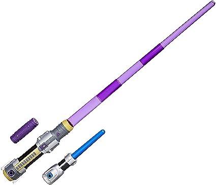 Star Wars Weapons Mace Windu Electronic Extendable Purple Lightsaber Kids Toy