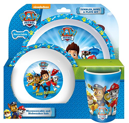 BPA FREE Paw Patrol Cup Bowl Plate Set Microwave and Dishwas