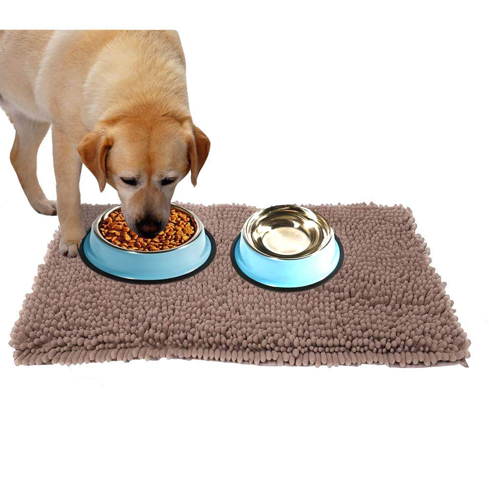 Taupe 31\ Taupe 31\ Dirty Dog Mat Absorbent Dog Kennel Mat-Dog Mats for Floors-XL  Extra Thick  Micro Fiber Chenille Pet Mat Size 31  X 20  Brown color