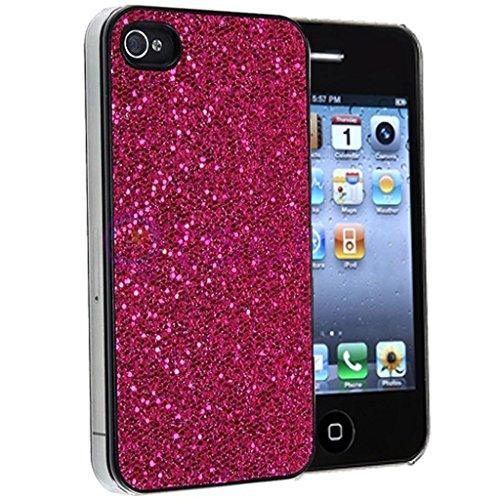 Nouveau iPhone 4 4s Rose foncé Mousseux Paillettes clip on Dur Coque couverture case cover Pare-chocs par Mobile Case Mate