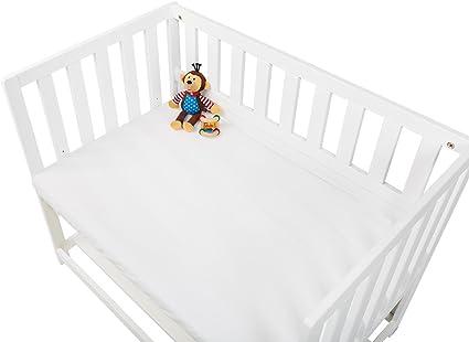 BabyPrem Beb/è Bambino Set 2 Lenzuolo Con Angoli Elasticizzati Per Moses Culla 73-76 x 28-30 cm Cotone Tinta Unita 2 Bianca